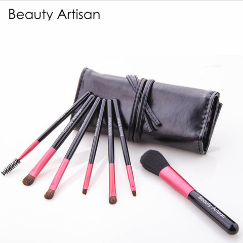 7pcs Pony Hair Makeup Brush Set, 2 Colors to Choose. BA005