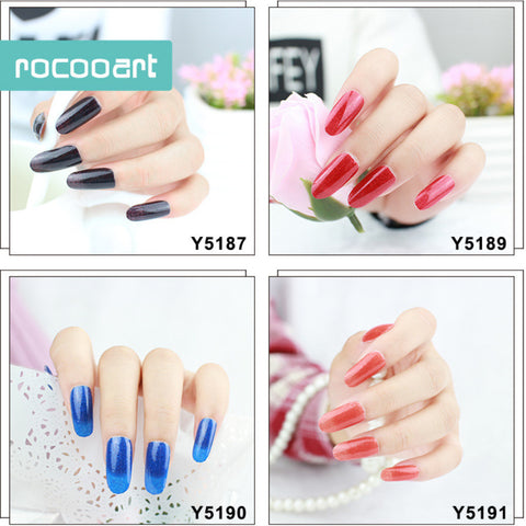 Beautiful Glitter Powder Solid Color Nail Wraps,12pcs, 12 Colors to choose, RC001