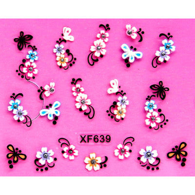 3D Nail Stickers, XF639, 20+ Designs to choose