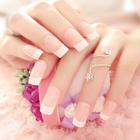 Beautiful French False Nails, 24pcs/box, YT002