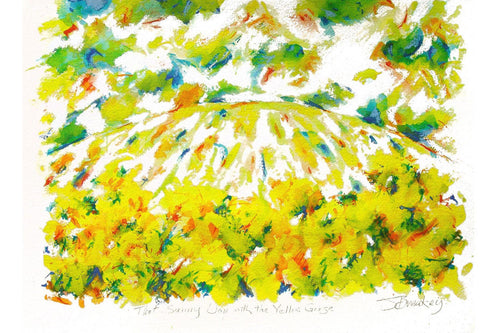 THE SUNNY DAY WITH YELLOW GORSE Lithograph      John Breakey RUA