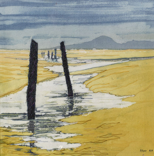 MURLOUGH BEACH  Batik & Stitch               Helen Kerr RUA