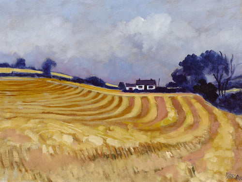 HARVEST AT DOWNPATRICK 2000   Oil on Canvas        Richard Croft RUA