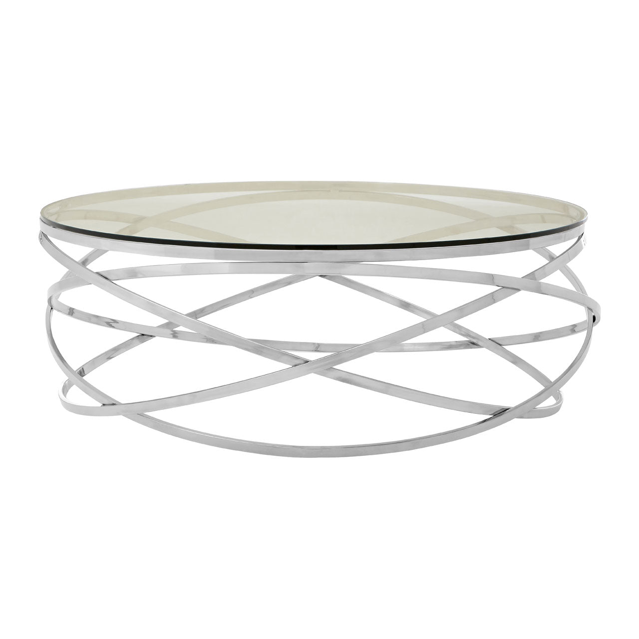 Allure Round Coffee Table Stainless Steel - Ezzo
