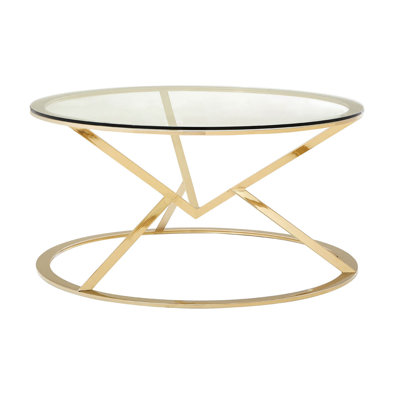 Allure Round Coffee Table Champagne Gold - Ezzo