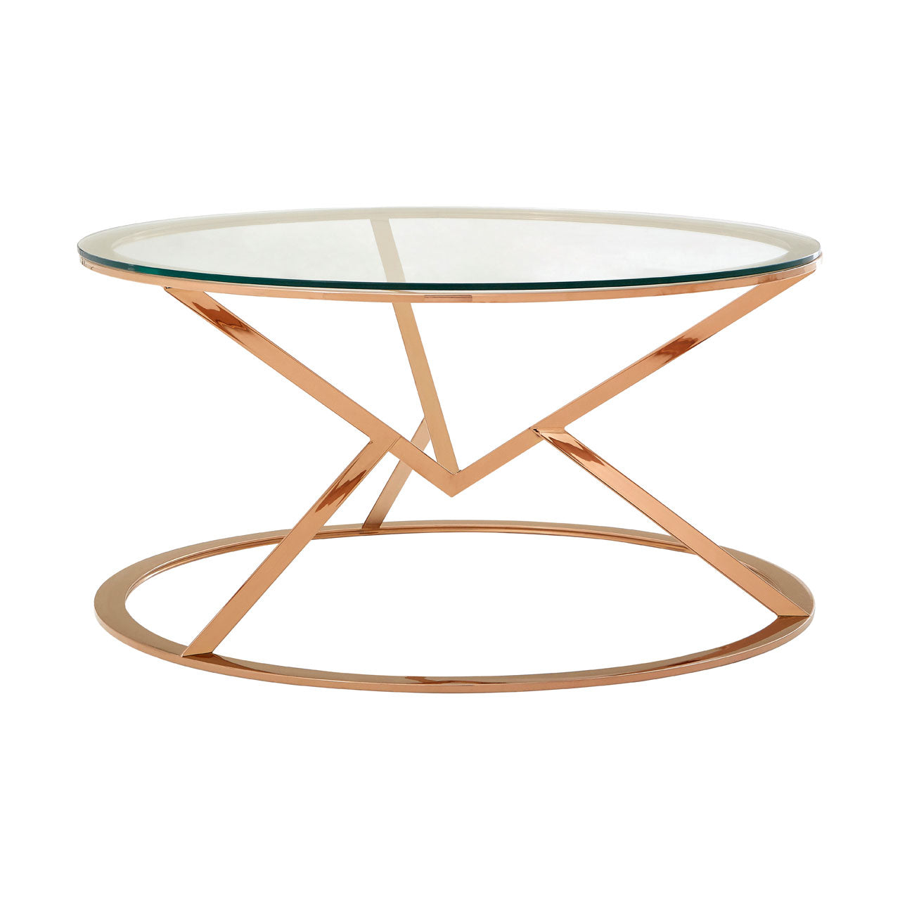 Allure Round Coffee Table Rose Gold - Ezzo