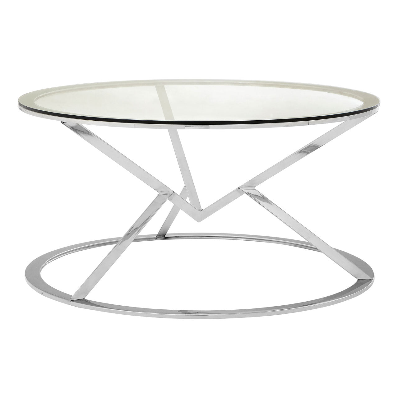 Allure Round Coffee Table Chrome - Ezzo