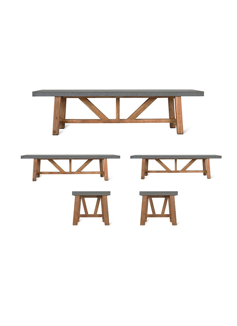 Charlbury Small Table and Bench Set - Ezzo