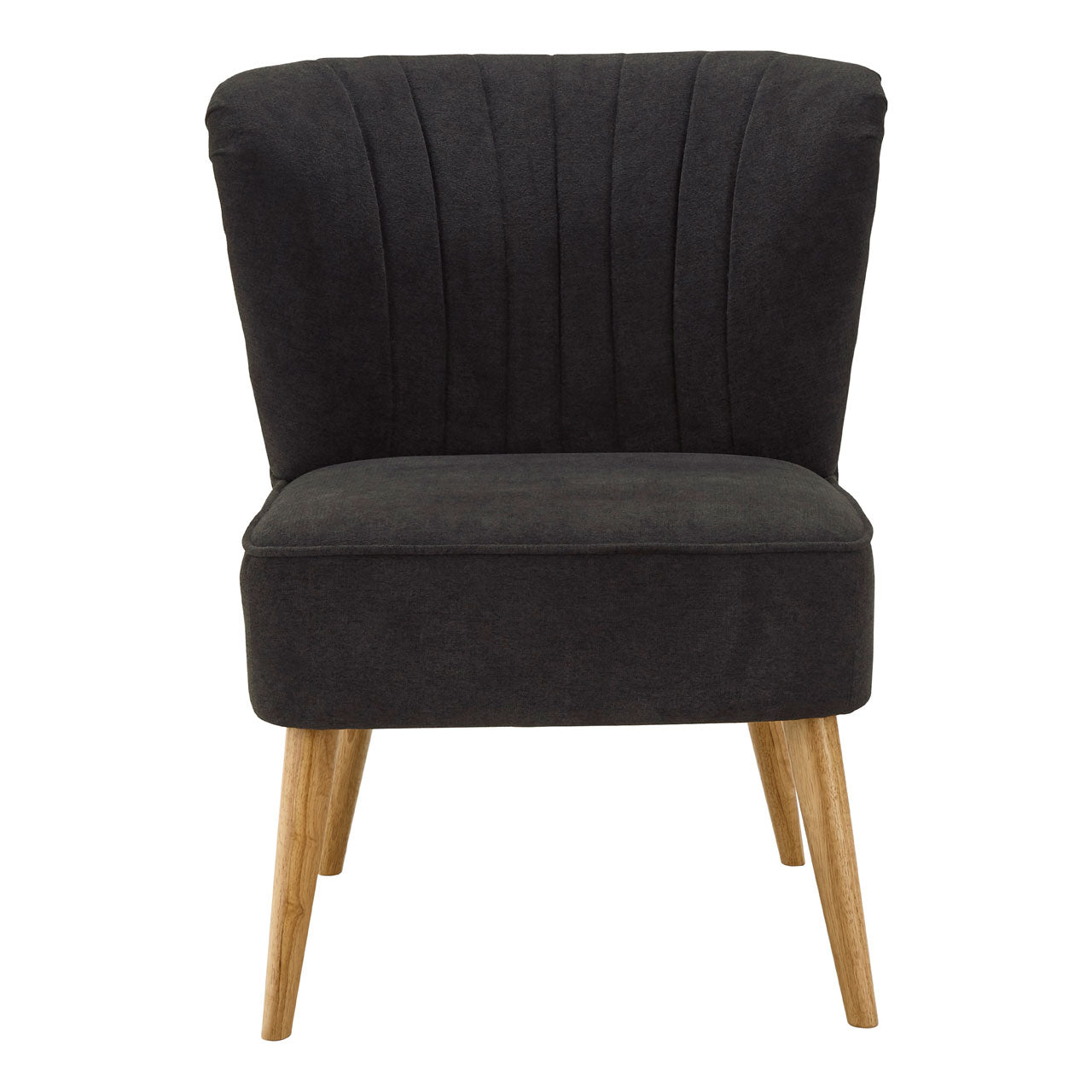 Geneva Wingback Chair in Black - Ezzo