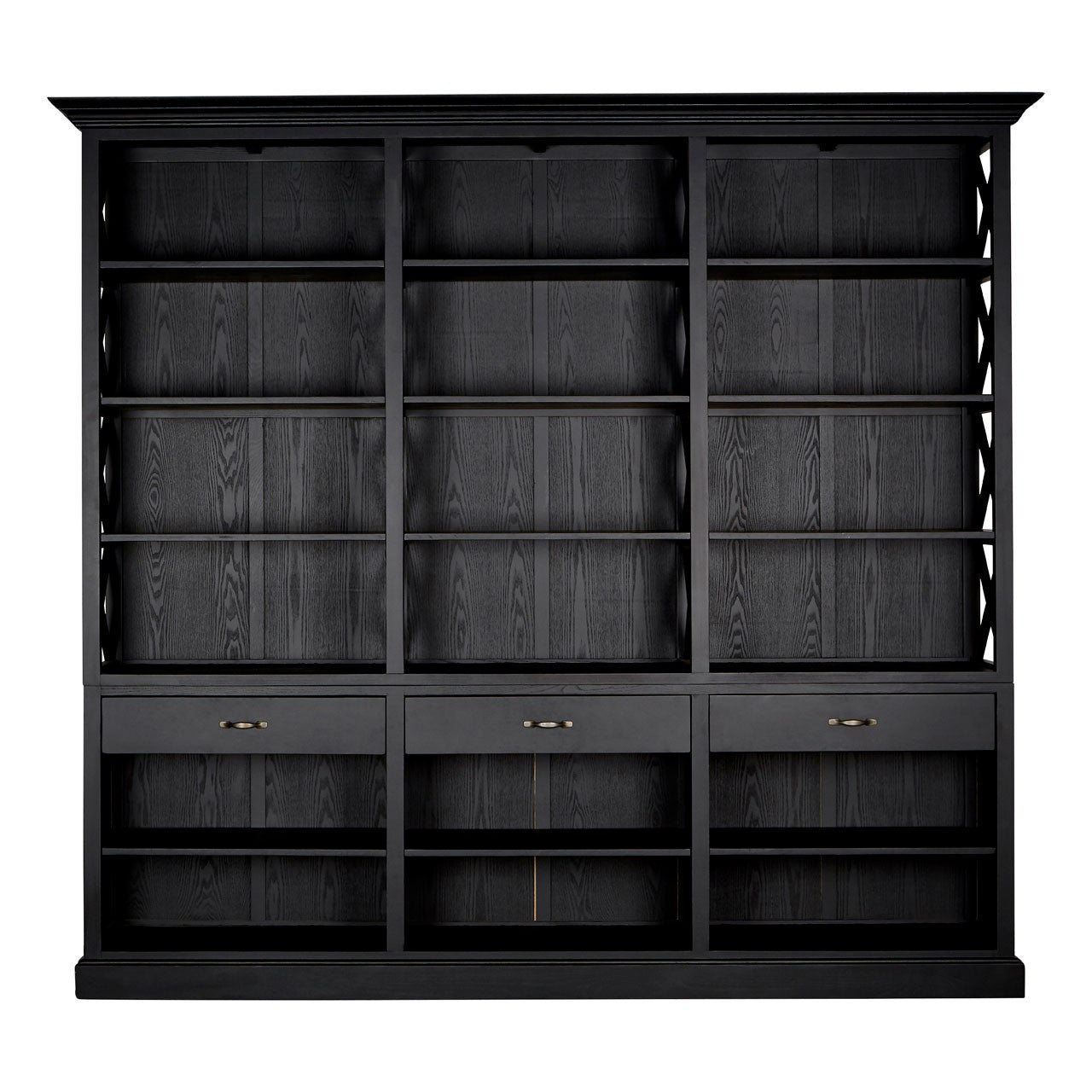 Lyon 3 Drawer Bookcase