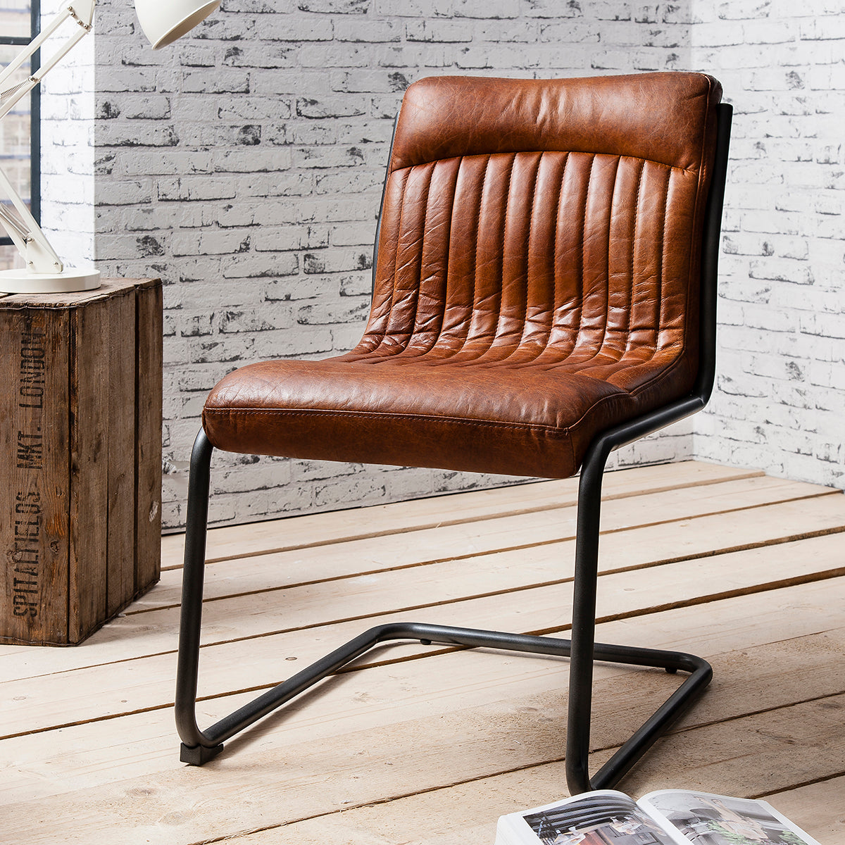 Scala Leather Chair Antique Brown