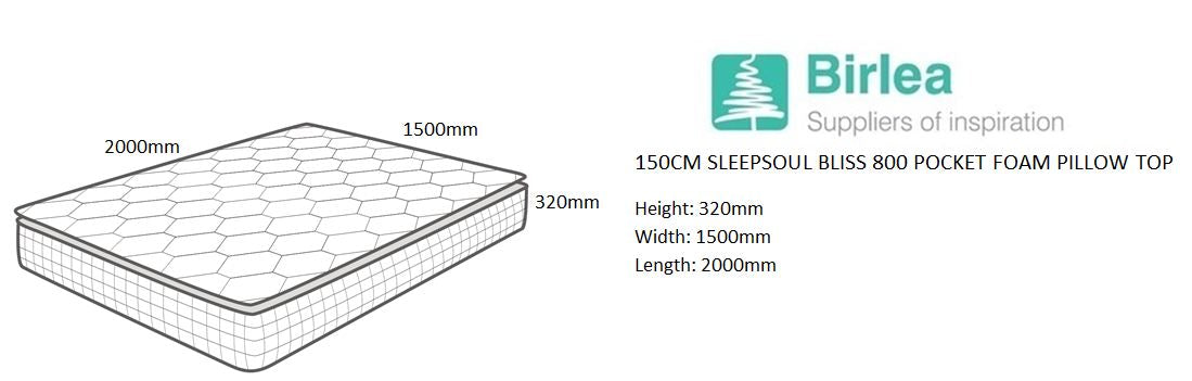 SleepSoul Bliss King Size Mattress with Memory Foam Top