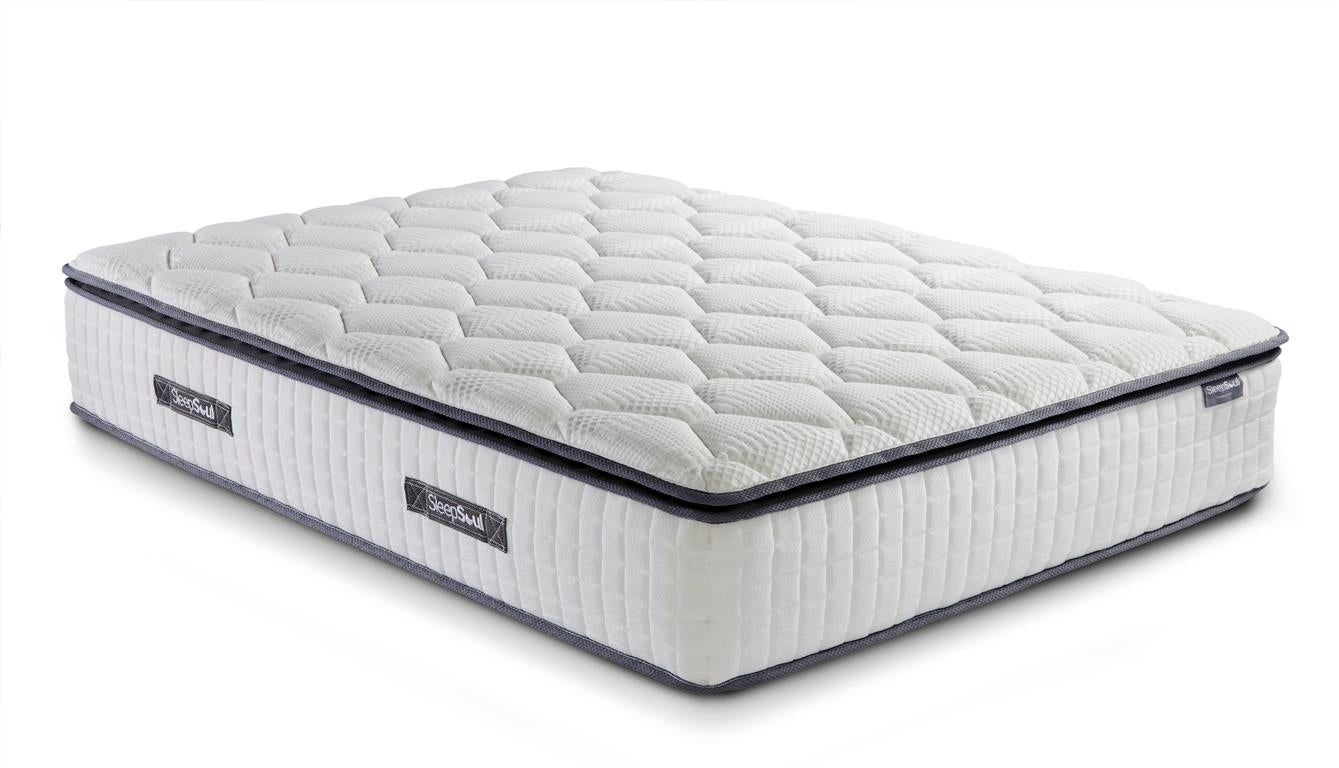 SleepSoul Bliss Queen Size Mattress with Memory Foam Top