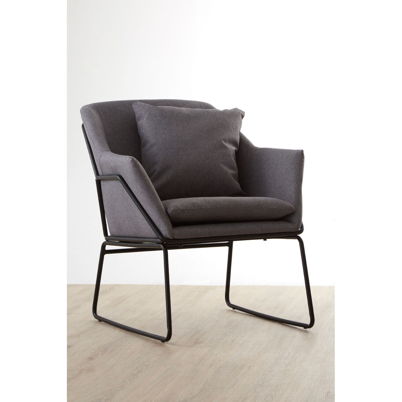 Stockholm Grey Fabric Chair