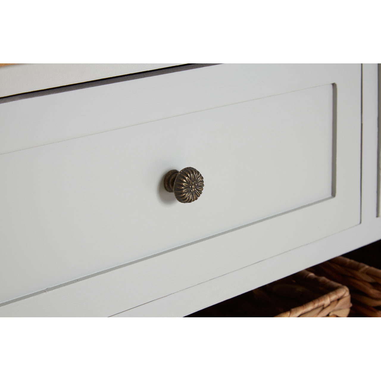 Vermont Grey 5 Drawer Cabinet