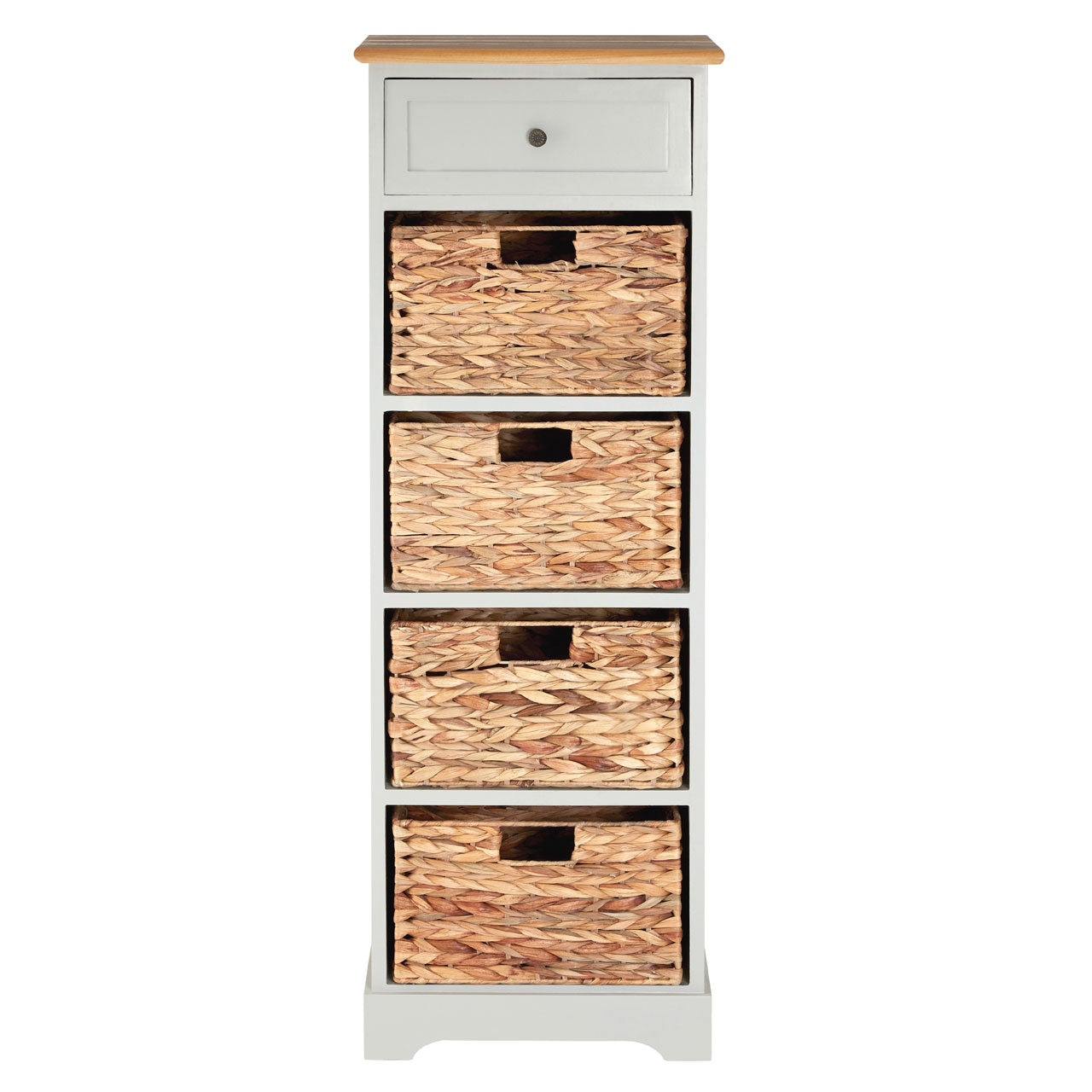 Vermont Grey 4 Drawer Cabinet