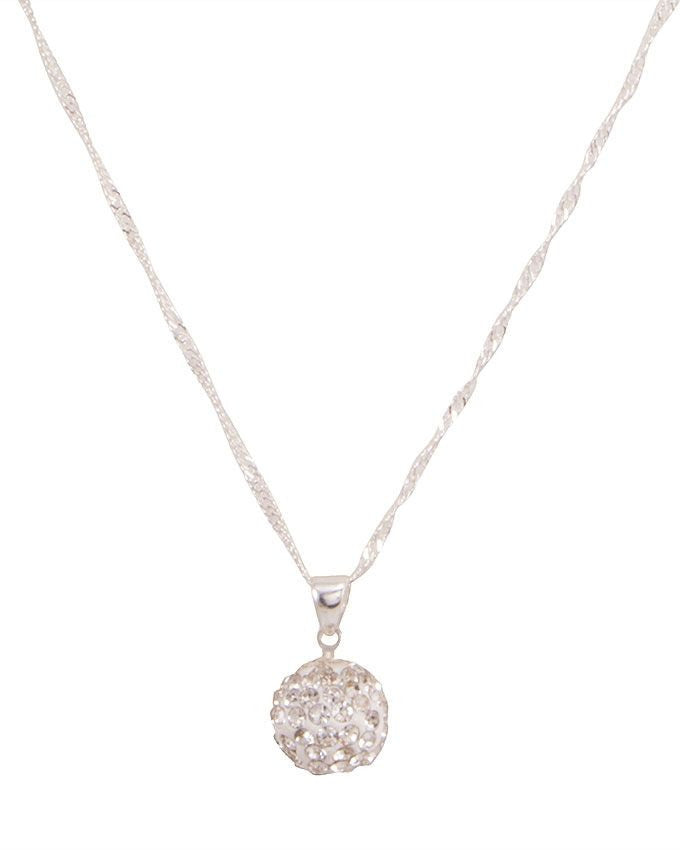 Austrian crystal ball pendant necklace