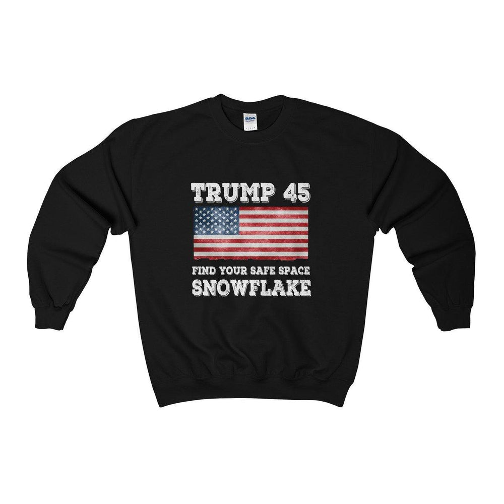 Trump 45 Find Your Safe Space Snowflake Sweatshirt