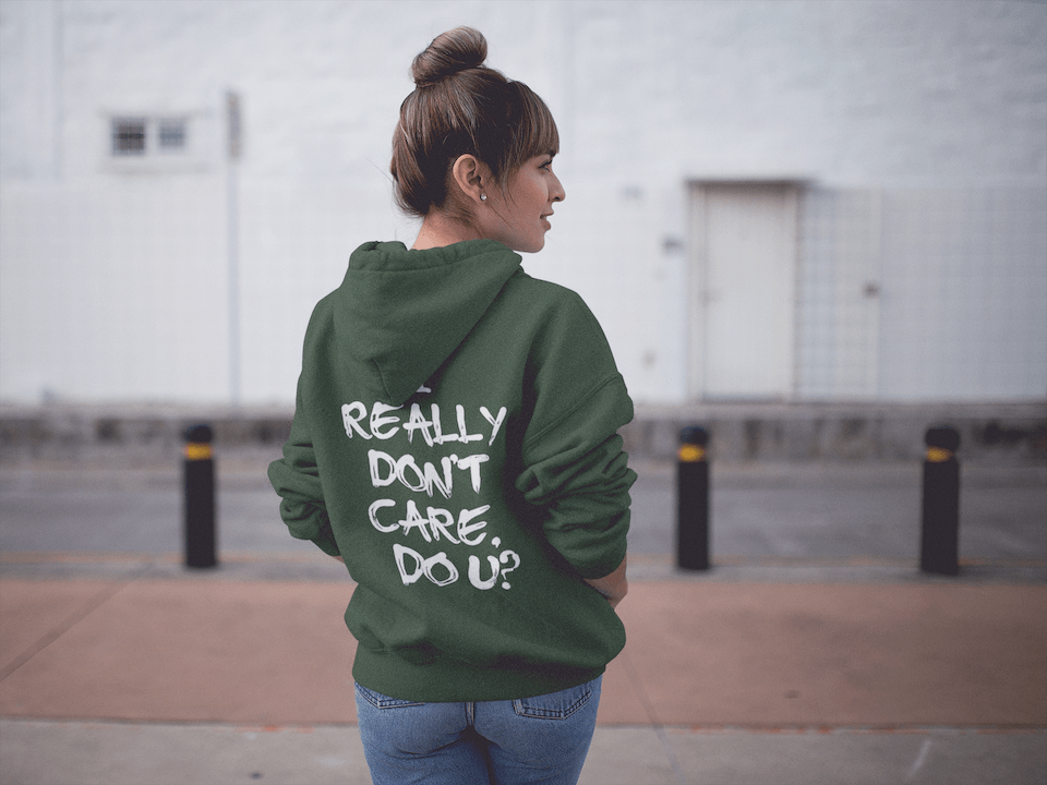 Melania Trump Jacket -  I Really Don't Care Do U Hooded Sweatshirt