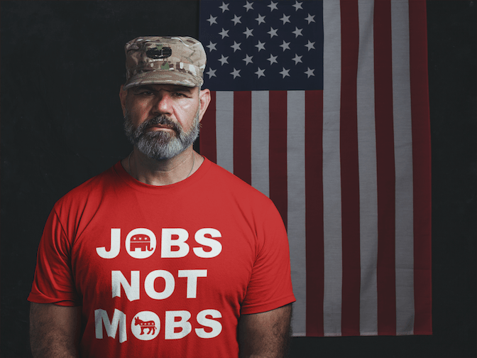 Jobs Not Mobs T Shirt - Donald Trump Republican Tee