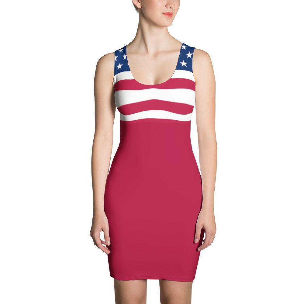American Flag Dress Red - Miss Deplorable