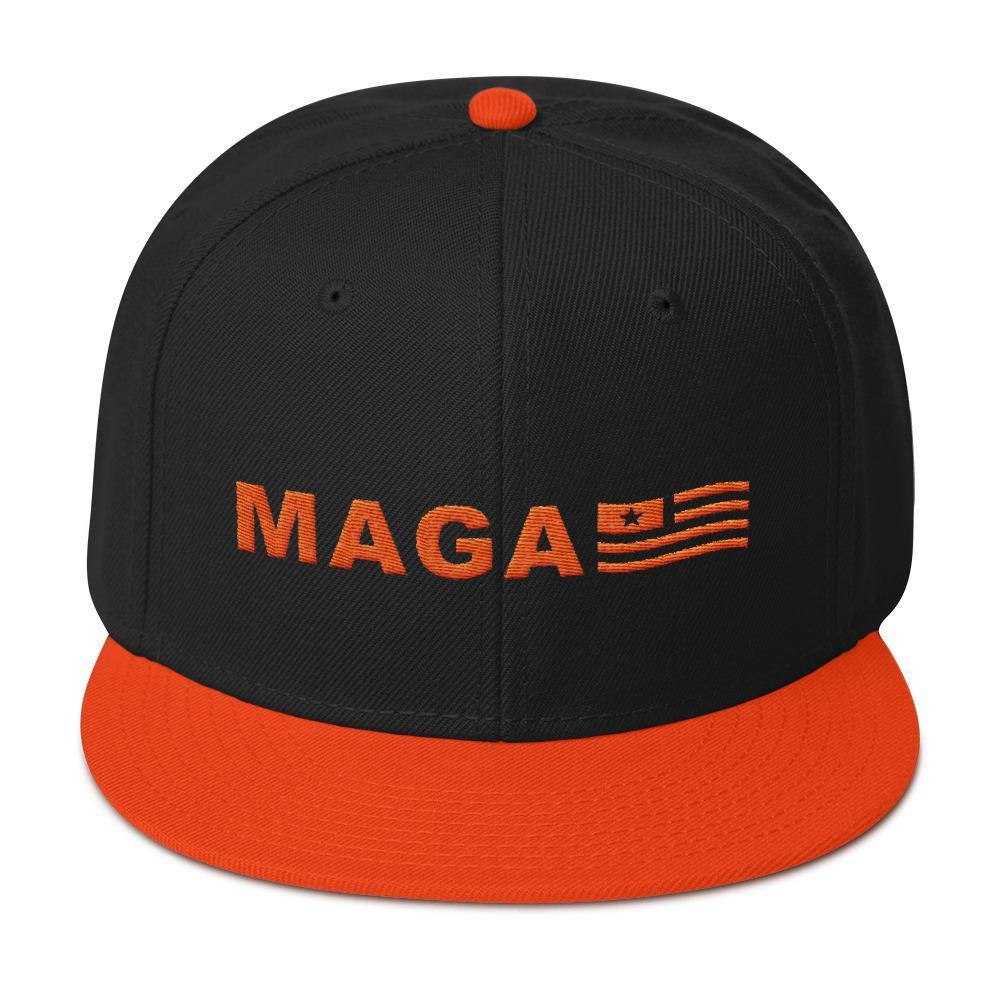 Donald Trump Orange Halloween MAGA Snapback Hat - Miss Deplorable