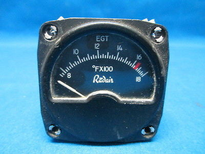 Working Radair Inc EGT Indicator Model: R-10-8 (6972)