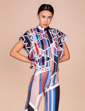 Geometric Print  Top and Culottes Co Ordinates Set