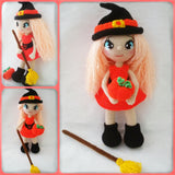 Product Picture Crochet pattern of Annie the little witch by Ternura Amigurumi on http://thepatternfactory.net