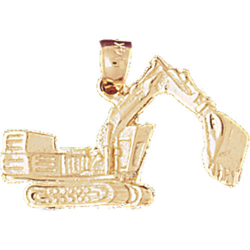 14K GOLD CONSTRUCTION CHARM-CRAWLER EXCAVATOR # 4303