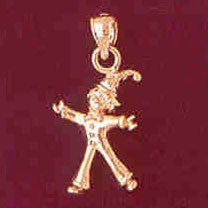 14K GOLD CHARM - CLOWN #7330