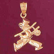 14K GOLD CHARM - CLOWN #7332