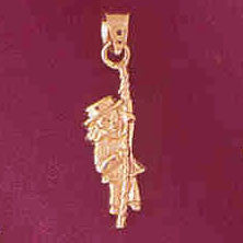 14K GOLD CHARM - CLOWN #7334