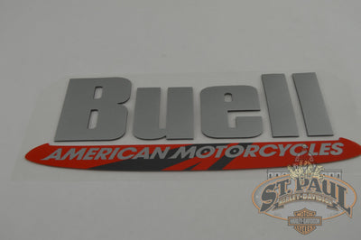 M0750.1Anyz Genuine Buell Fuel Tank / Air Box Cover Decal Sold As Pair Emblem