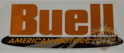 M0725 1Aa Genuine Buell Fuel Tank Air Box Cover Decal Sold As Pair B3D Emblem