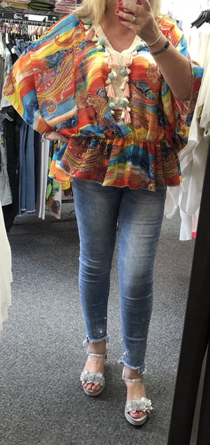 Julie Multi Coloured Tassel Top