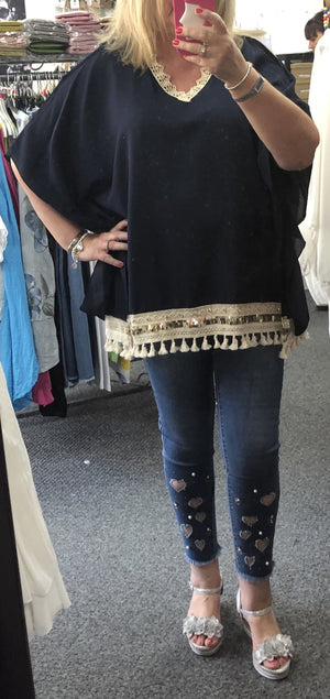 Vanessa V-Neck Tassel Top