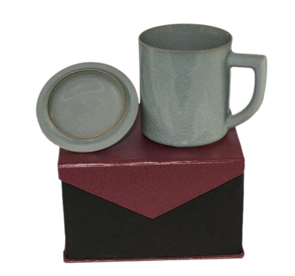 Dark Celadon Coffee Mug & Box | JadeSouk