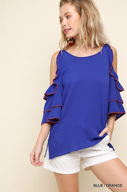 Ruffled Game Day Top