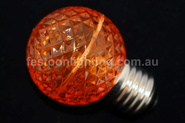G50 Faceted E27 Decorative Festoon Bulb - Orange