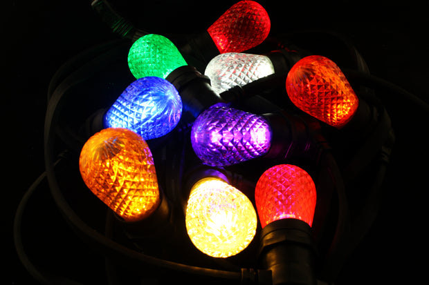 T50 Faceted E27 Decorative Festoon Bulb - All Colours