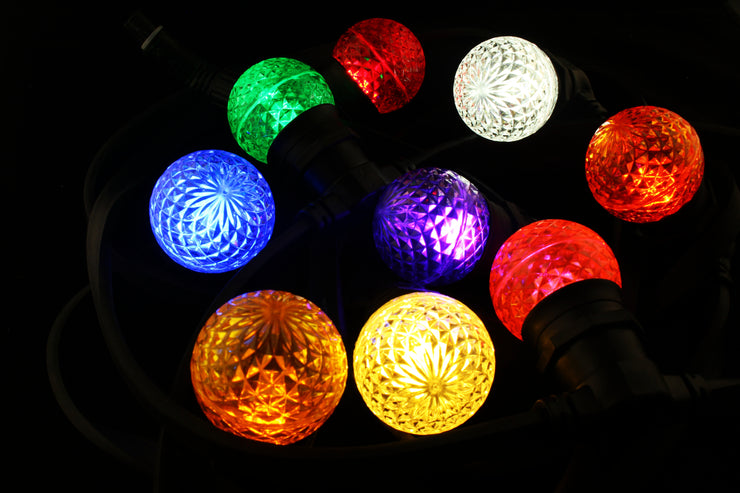 G50 Faceted E27 Decorative Festoon Bulb - All Colours