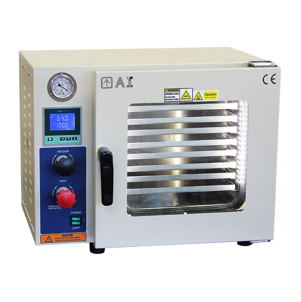 220V 25L Vacuum Oven 5 Sided Heat, SST Tubing/Valves, across international
