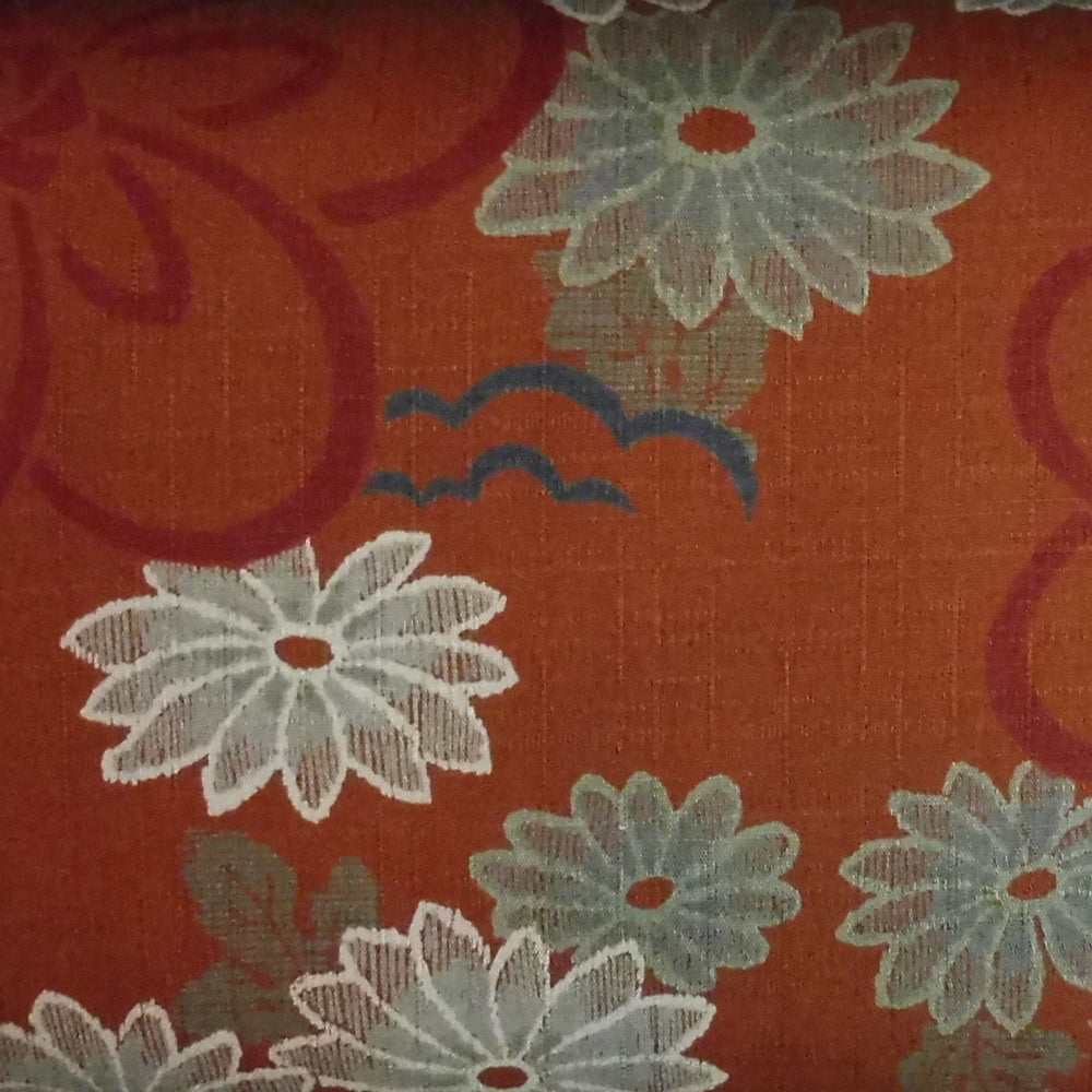 Japanese Dobby Cloth - Dark Orange Daisy