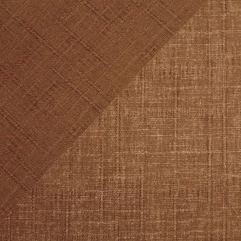 Japanese Dobby Cloth - Tawny Brown Reversible Solid