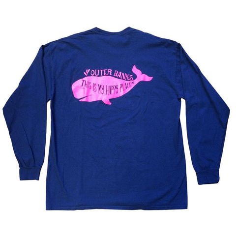 This Is My Happy Place OB Whale Long Sleeve Tee