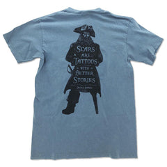 Scars Are Tattoos Pirate Silhouette Short Sleeve T-Shirt
