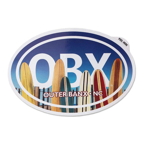 OBX Surfboards Oval Sticker