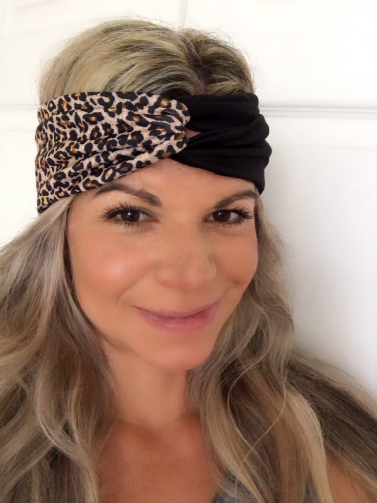 Wild Cat & Black Active ~ Headband - Tossy by EM