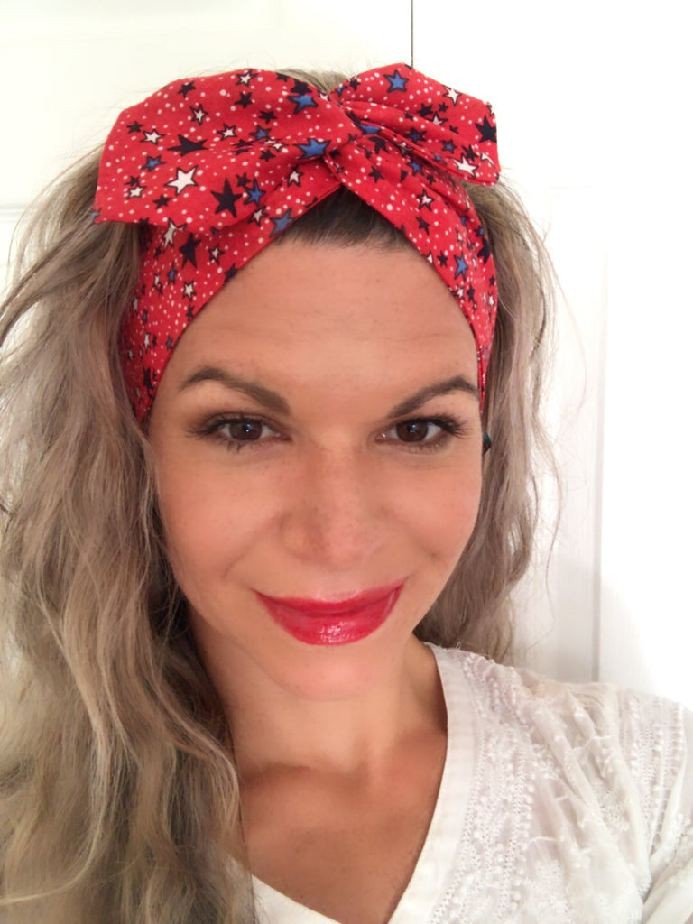 Red Stars America ~ Headband - Tossy by EM